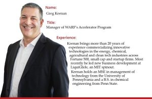 Photo of Greg Keenan, manager of WARF's Accelerator Program, 20 years experience commercializing innovative technologies