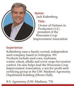 Image of Jack Kaltenberg, owner of Partners in Production LLC, BS Agronomy UW-Madison 1973
