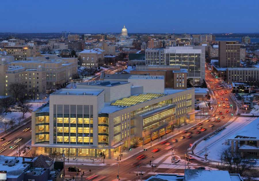 city of Madison at night