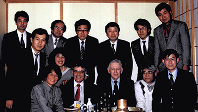 Hector DeLuca and Howard Bremer in 1990 with a group of Japanese scientists