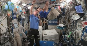 Astronauts in the Space Station